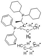(R)-(-)-1-[(S)-2-(Diphenylphosphino)ferrocenyl]ethyldicyclohexylphosphine ethanol adduct CAS 155806-35-2