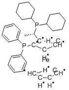 (S)-(+)-1-[(R)-2-(Diphenylphosphino)ferrocenyl]ethyldicyclohexylphosphine ethanol adduct CAS 162291-02-3