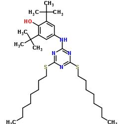 2,4-Bis(octylthio)-6-(4-hydroxy-3,5-di-tert-butylanilino)-1,3,5-triazine CAS 991-84-4