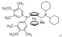 (R)-(-)-1-{(SP)-2-[Bis(3,5-dimethyl-4-methoxyphenyl)phosphino]ferrocenyl}ethyldicyclohexylphosphine CAS 36FN-0048-63-1