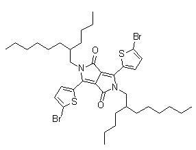 3,6-Bis(5-bromo-2-thienyl)-2,5-bis(2-butyloctyl)-2,5-dihydropyrrolo[3,4-c]pyrrole-1,4-dione CAS 1224709-68-5