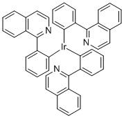 Ir(piq)3, Tris[1-phenylisoquinolinato-C2,N]iridium(III) CAS 435293-93-9