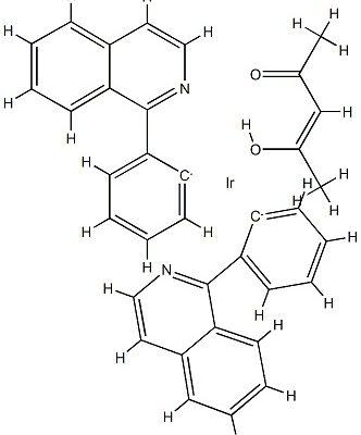 Bis(1-phenyl-isoquinoline)(Acetylacetonato)iridium(III) CAS 435294-03-4