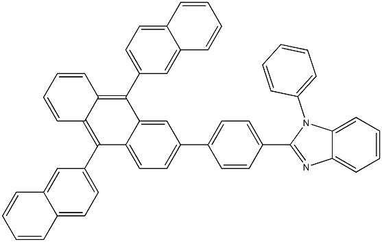 2-[4-(9,10-Di-2-naphthalenyl-2-anthracenyl)phenyl]-1-phenyl- CAS 561064-11-7