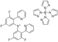 (OC-6-33)-Bis[3,5-difluoro-2-(2-pyridinyl-kN)phenyl-kC][tetrakis(1H-pyrazolato-kN1)borato(1-)-kN2,kN2′]-iridium CAS 664374-03-2