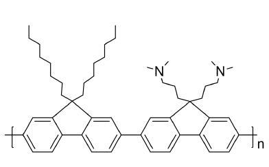 Poly[(9,9-bis(3¡é-(N,N-diMethylaMino)propyl)-2,7-fluorene)-alt-2,7-(9,9-dioctylfluorene) CAS 673474-74-3