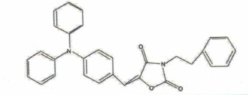 2,4-Oxazolidinedione,5-[[4-(dipenylamino)phenyl]methlene-3-(2-phenylethyl)- CAS 506426-96-6