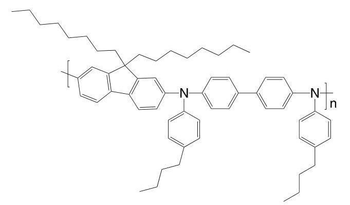 Poly[(9,9-dioctylfluorenyl-2,7-diyl)-alt-(N,N'-bis{p-butylphenyl}-1,1′-biphenylene-4,4′-diamine)] CAS 1115424-53-7