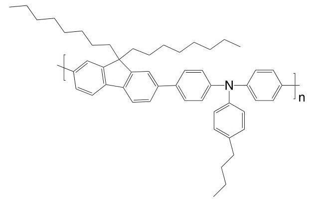 Poly[(9,9-dioctylfluorenyl-2,7-diyl)-co-(4,4′-(N-(p-butyl-phenyl))diphenylamine)] CAS 223569-31-1