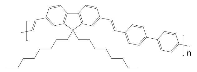 Poly[(9,9-dioctyl-2,7-divinylenefluorenylene)-alt-(4,4′-biphenylene)] CAS 474975-20-7
