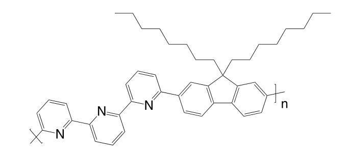 "Poly[(9,9-dioctylfluorenyl-2,7-diyl)-alt-(6,6′-{2,2′:6′,2""-terpyridine})] CAS 934690-41-2"