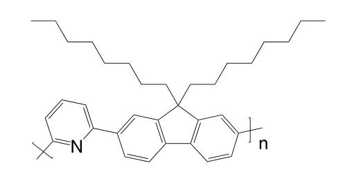 Poly[(9,9-dioctylfluorenyl-2,7-diyl)-alt-(2,6-pyridine)] CAS 773895-96-8